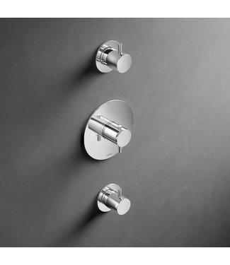 Hotbath Laddy L007R - Inbouw thermostaat met twee stopkranen