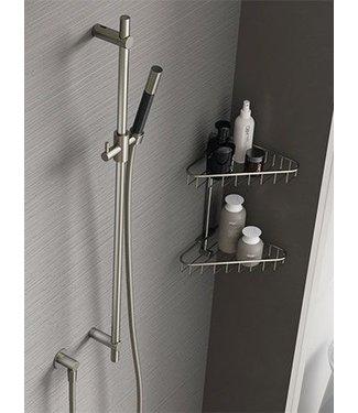 Hotbath Cobber M307 - Glijstang 90 cm met wandaansluitbocht, doucheslang 1,5 mtr en handdouche