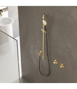 Hotbath Mate M308 - Glijstang 90 cm met wandaansluitbocht, doucheslang 1,5 mtr en handdouche