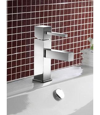 Hotbath Bloke Q003S - Wastafelmengkraan zonder waste, met stickhendel