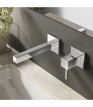 Hotbath Bloke Q005 - Inbouw wastafelmengkraan met rechte uitloop CR