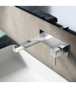 Hotbath Bloke Q006 - Inbouw wastafelmengkraan met rechte uitloop CR