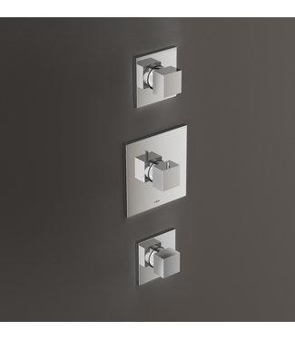 Hotbath Bloke Q007 - Inbouw thermostaat met twee stopkranen CR