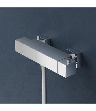 """Hotbath Bloke Q008 - Opbouw thermostaat met 1/2"""" doucheslang onderaansluiting"""