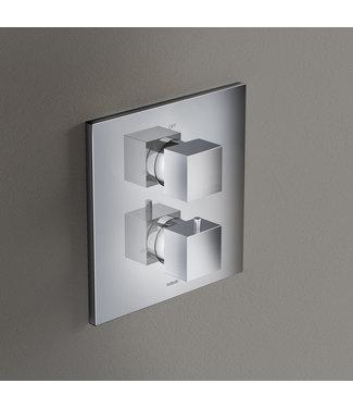Hotbath Bloke Q009 - Inbouw thermostaat met 2-weg stop-omstel CR