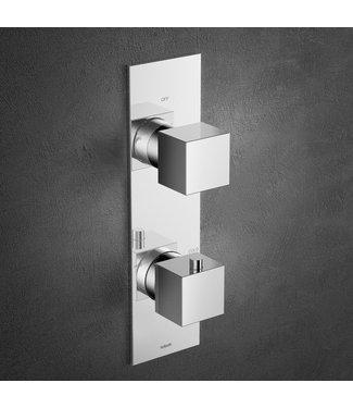 Hotbath Bloke Q051 - Inbouw thermostaat met 2-weg omstelverticale plaatsing