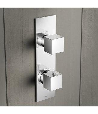 Hotbath Bloke Q052 - Inbouw thermostaat met 2-weg omstelverticale plaatsing