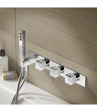 Hotbath Bloke Q061 - Inbouw bad/douche thermostaat met 2 stopkranen zonder uitloop