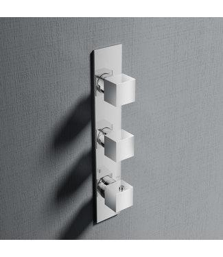 Hotbath Bloke Q066 - Inbouw douche thermostaat met 2 stopkranen verticale plaatsing