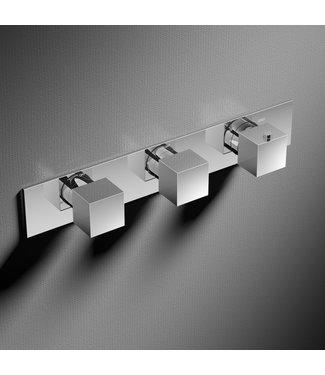 Hotbath Bloke Q067 - Inbouw douche thermostaat met 2 stopkranen horizontale plaatsing