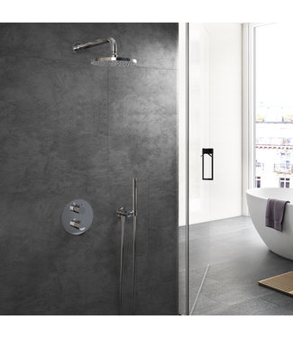 Hotbath Buddy IBS1A - Complete thermostatische douche inbouwset Buddy met 2-weg-stop-omstel