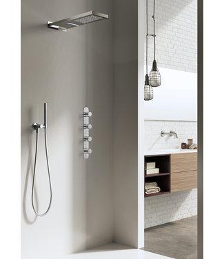 Hotbath Buddy IBS7 - Complete thermostatische Inbouw douche met 3 stopkranen en cascade hoofddouche