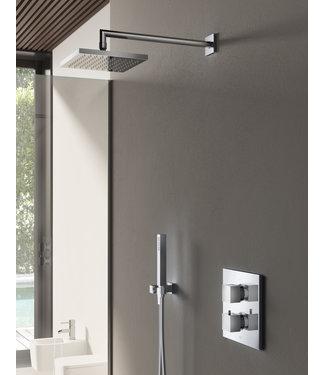 Hotbath Bloke IBS4A - Complete thermostatische douche inbouwset Bloke met 2-weg-stop-omstel