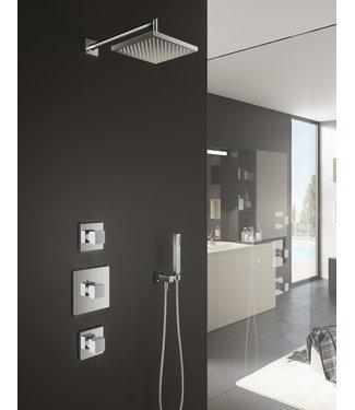 Hotbath Bloke IBS4 - Complete thermostatische douche inbouwset Bloke met twee stopkranen