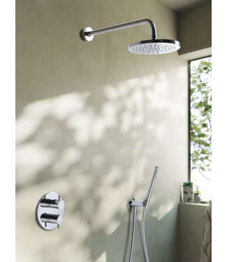 Hotbath Laddy IBS2RA - Complete thermostatische douche inbouwset Laddy met 2-weg-stop-omstel