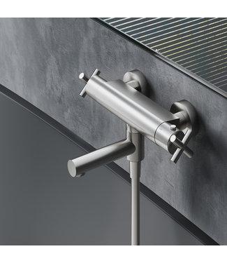 Hotbath Chap C020 - Thermostatische badmengkraan met wegdraaibare omstel uitloop
