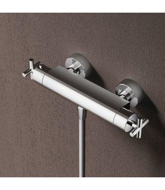 Hotbath Chap C008 - Opbouw thermostaat met 1/2 doucheslang met onderaansluiting