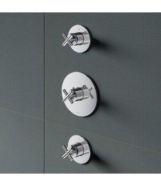 Hotbath Chap C007 - Inbouw thermostaat met twee stopkranen CR