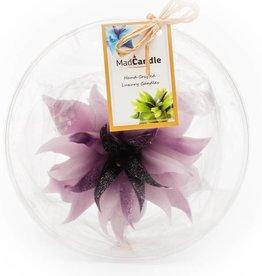 MadCandle Flower candle large lavender