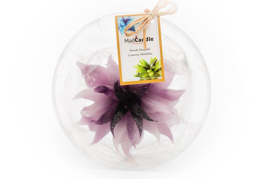 MadCandle Bloemenkaars groot lavendel