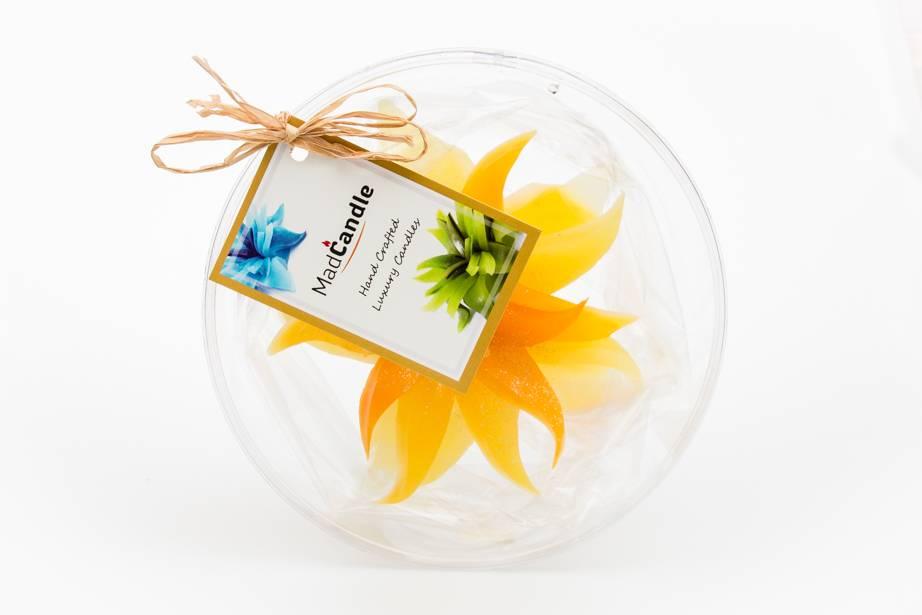 MadCandle Bloemenkaars medium citroen
