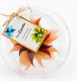 MadCandle Flower candle medium cinnamon