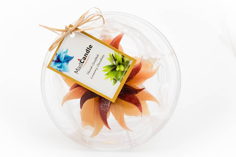 MadCandle Bougie Fleur Moyenne Cannelle