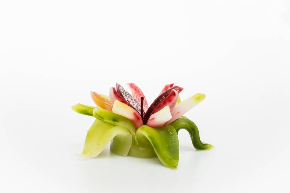 MadCandle Bougie Fleur Thé Vert Moyen