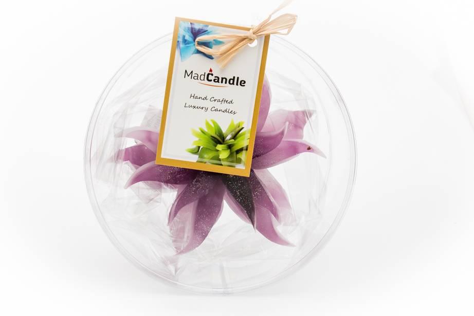MadCandle Bloemenkaars medium lavendel