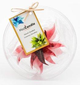 MadCandle Flower candle medium strawberry