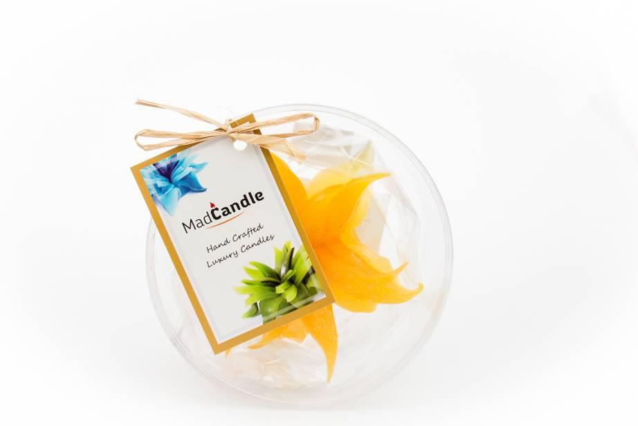 MadCandle Bloemenkaars klein citroen