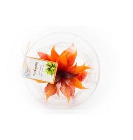MadCandle Flower candle big orange
