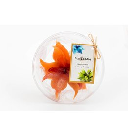 MadCandle Bougie Fleur Moyen Orange