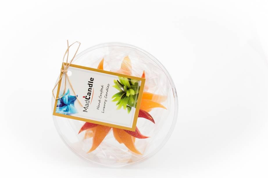 MadCandle Bloemenkaars klein sinaasappel