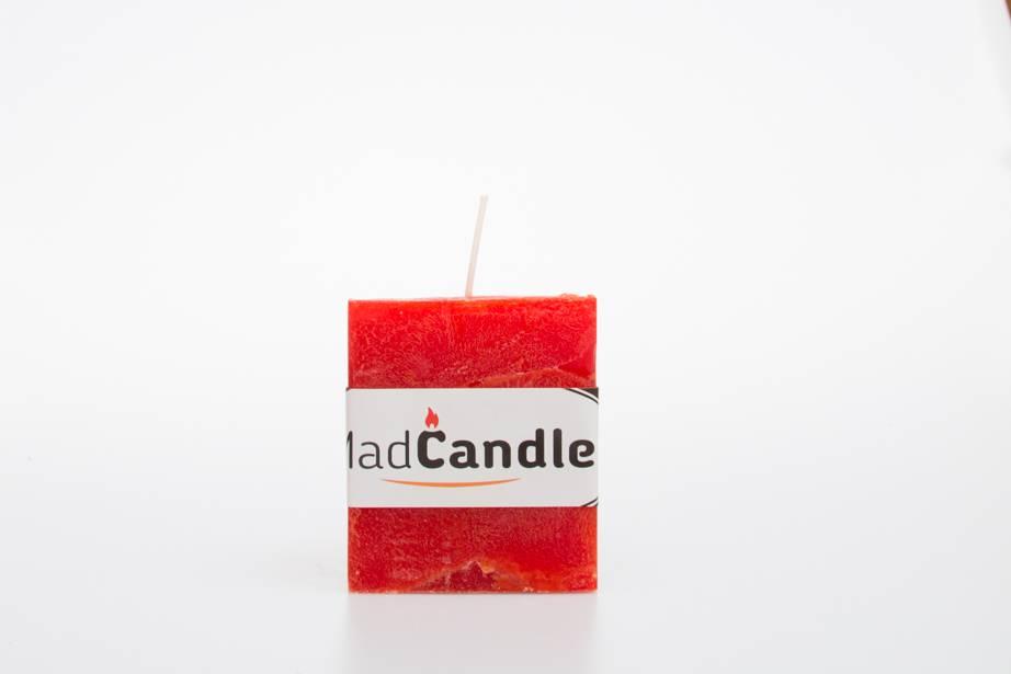 MadCandle Bougie parfumée cube petit orange