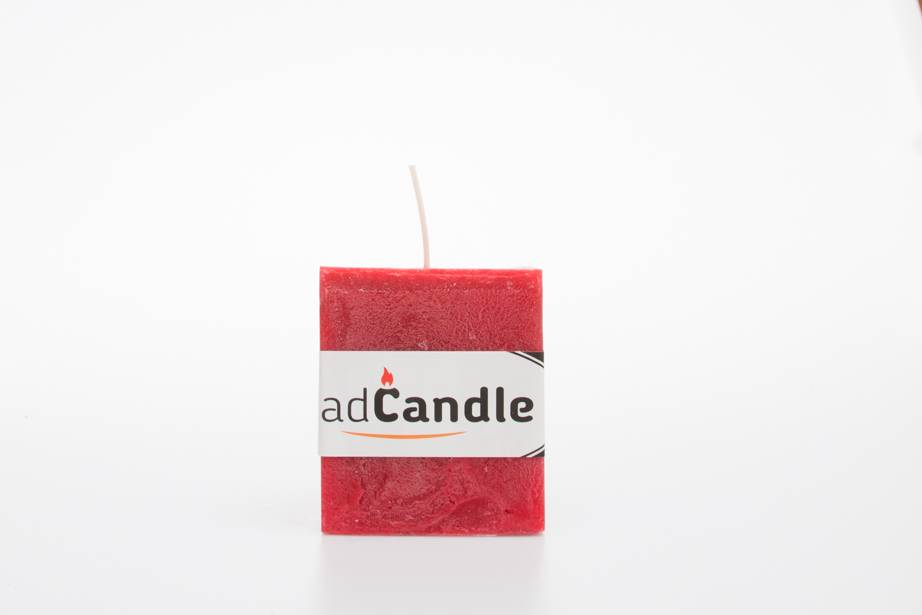 MadCandle Geurkaars kubus klein aardbei