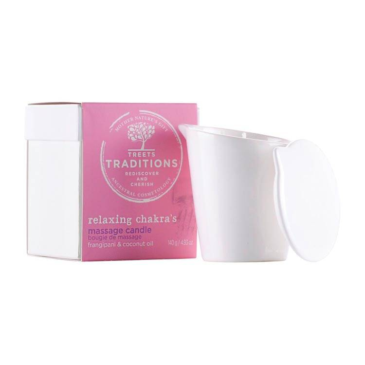 Treets Treets Relaxing Chakras Massage Candle