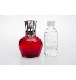 Scentburnerset L06 red. Rrefill rose and fig (Crespi)