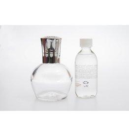 Set de brûleur à parfum L06 transp. Recharge Rose et Figue (Crespi)