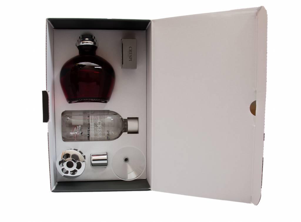 Set de brûleur de parfum L06 rouge. Recharge Rose et Figue (Crespi)
