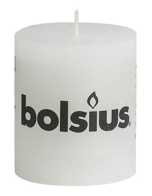 Bolsius kaarsen Pillar candle rustic 80/68 white