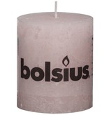 Bolsius kaarsen Pilier bougie rustique 80/68 rose tendre