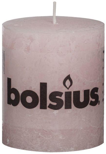 Bolsius kaarsen Stompkaars rustiek 80/68 zacht roze