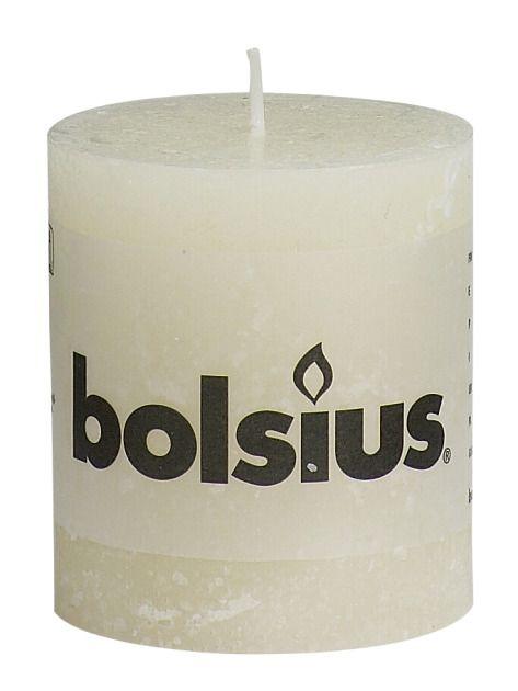 Bolsius kaarsen Pillar candle rustic 80/68 ivory