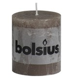 Bolsius kaarsen Stompkaars rustiek 80/68 taupe