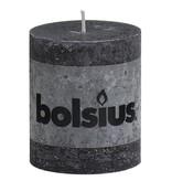 Bolsius kaarsen Stompkaars rustiek 80/68 antraciet
