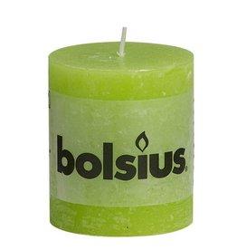 Bolsius kaarsen Pilier bougie rustique 80/68 citron vert