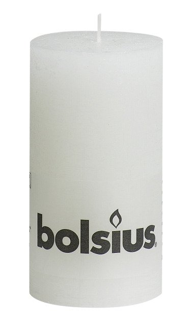 Bolsius kaarsen Stompkaars rustiek 130/68 wit