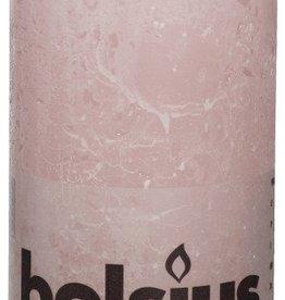 Bolsius kaarsen Stompkaars rustiek 130/68 zachtroze