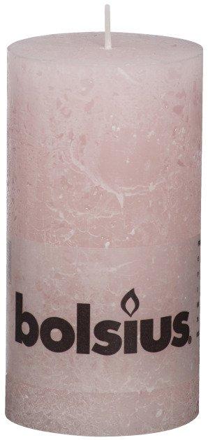 Bolsius kaarsen Pillar candle rustic 130/68 soft pink